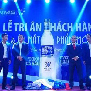 Ban lãnh đạo rượu Vodka Cá Sấu trong buổi ra mắt rượu Vodka Cánh Đồng Nga