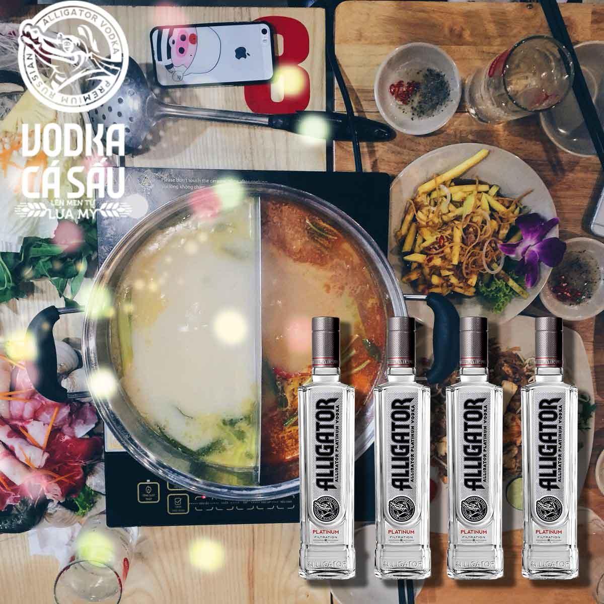 Món ăn phù hợp rượu Vodka Cá Sấu