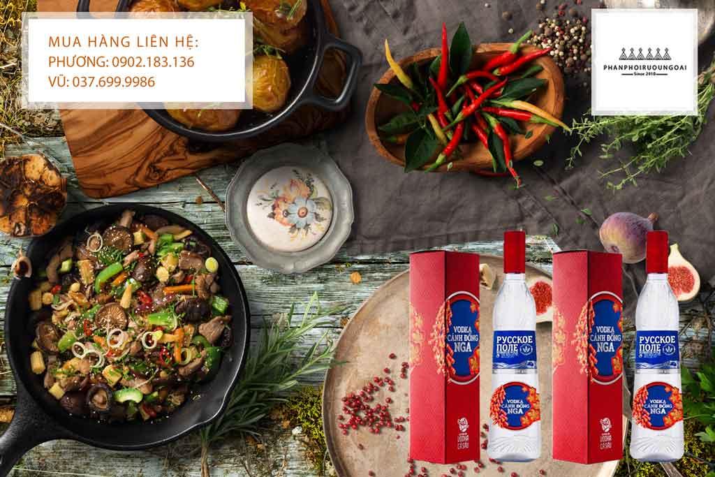 Rượu Vodka Cánh đồng nga tết 2020 phù hợp với các món ăn Việt Nam