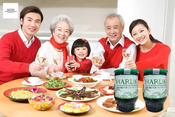 Rượu mơ nhật bản Haruka là sản phẩm hướng tới phục vụ bữa ăn gia đình