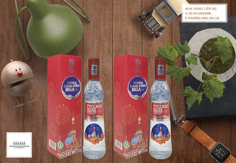 Rượu Vodka Cánh Đồng Nga Tết 2021 phù hợp cho biếu tặng hoặc đóng giỏ quà tết