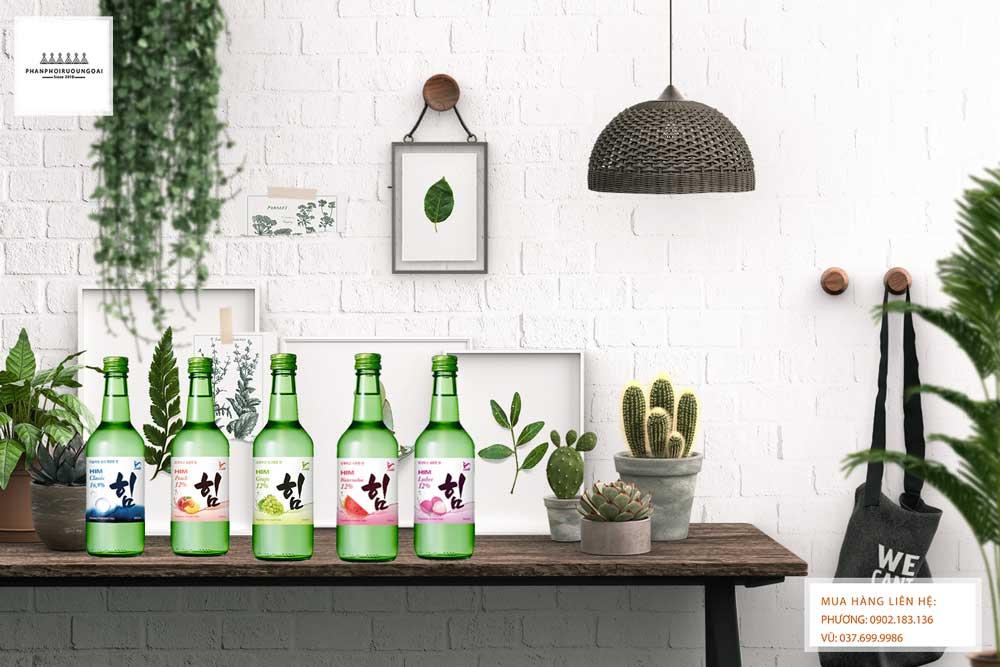 Các dòng sản phẩm rượu Soju HIM của Hàn Quốc